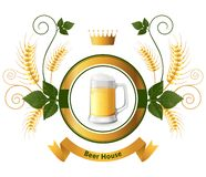Beer emblem Royalty Free Stock Image