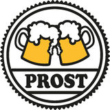 Beer emblem with cheers Royalty Free Stock Photo