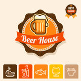 Beer emblem Stock Photos