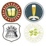 Beer emblems. A set of various beer emblems Stock Images