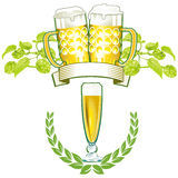 Beer emblems Stock Photography