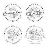 Beer emblems and labels. Stock Photos