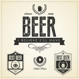 Beer emblems and labels  - vintage style Royalty Free Stock Image