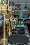 Beer equipment for beer on the bar counter Stock Images