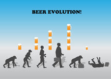 Beer evolution Royalty Free Stock Image