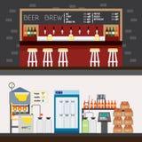 Beer factory and bar Stock Photos