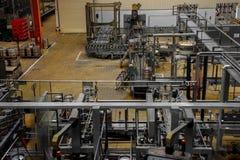 Beer factory interior Stock Photos