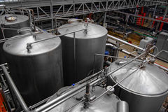 Beer factory interior Stock Photography