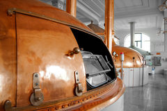 Beer factory with large storage tanks Stock Image