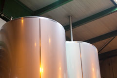 Beer fermentaion tank Stock Image