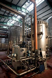 Beer fermentaion tanks Royalty Free Stock Image