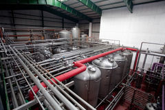 Beer fermentaion tanks Stock Image