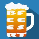 Beer fest alkohol festival on blue background. Alkohol happy.  Stock Image