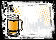Beer fest background. Sketching of the beer fest Stock Photo