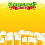 Beer Fest Background. Bright Vector Template. Beer Fest Party Background. Bright Template with Place for Text Royalty Free Stock Image