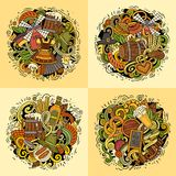 Beer fest cartoon vector doodle illustration Royalty Free Stock Photos