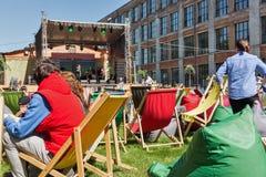 Beer Festival in Art Zavod Platforma. Kyiv, Ukraine