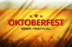 Beer festival background Stock Images