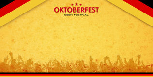 Beer festival background Royalty Free Stock Photos