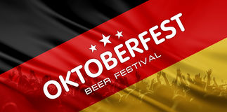 Beer festival background Stock Photos