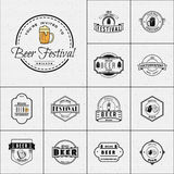 Beer festival badges logos and labels for any use Stock Image