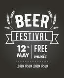 Beer festival, black board event poster Royalty Free Stock Photo