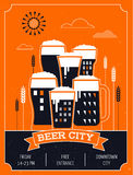Beer festival in the city, event poster Stock Image