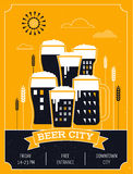 Beer festival in the city, event poster Stock Photography