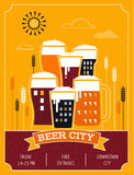 Beer festival in the city, event poster Stock Images