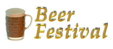 Beer Festival concept. Isolated on white background Stock Images