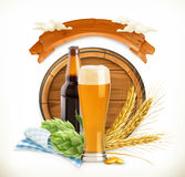 Beer Festival, 3d vector Royalty Free Stock Photo