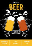 Beer festival, event poster Stock Images