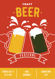 Beer festival, event poster Stock Image