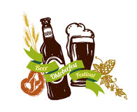Beer festival logo Royalty Free Stock Photography