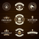Beer festival Oktoberfest celebrations labels Royalty Free Stock Photo