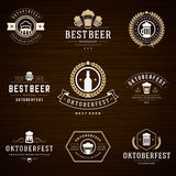 Beer festival Oktoberfest labels, badges and logos Stock Images