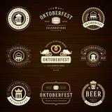 Beer festival Oktoberfest labels, badges and logos Stock Image