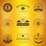 Beer festival Oktoberfest labels, badges and logos Stock Photo