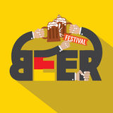 Beer Festival Typography Design Stock Photos