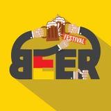 Beer Festival Typography Design Stock Photos
