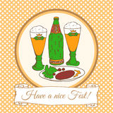 Beer festival vector card Royalty Free Stock Photos
