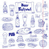 Beer festival vector set Stock Photography