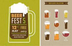 Beer Festival vintage poster Royalty Free Stock Photography