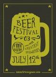 Beer Festival vintage poster Stock Images