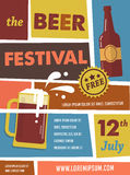Beer Festival vintage poster Stock Photography