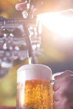 Beer filling up Royalty Free Stock Images