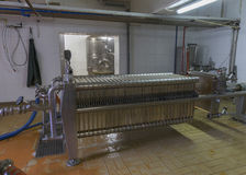 Beer filter installation at Brewery 'Het Sas' in Boezinge, Belgi Stock Image