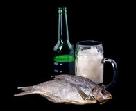 Beer and fish Royalty Free Stock Photography