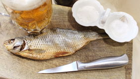 Beer with fish Royalty Free Stock Image