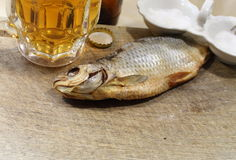 Beer with fish Stock Images